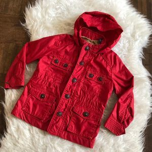 Baker by Ted Baker Boys Sz 3 Red Hooded Jacket
